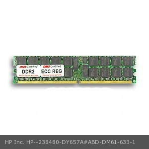 (DMS Compatible/Replacement for HP Inc. DY657A#ABD Workstation xw6200 2GB DMS Certified Memory DDR2-400 (PC2-3200) 256x72 CL3 1.8v 240 Pin ECC/Reg. DIMM Single Rank - DMS)