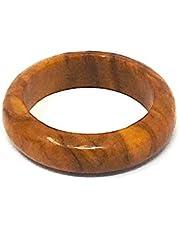 bagusto Anillo de dedo de madera de olivo - hecho a mano en España 18mm