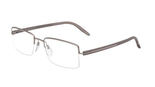 6056 Eyeglasses (Silhouette Eyeglasses SPX Signia Nylor 5419 6056 Half Rim Optical Frame 53mm)