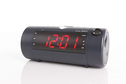 The Sonic Blast - Super Loud Projection Alarm Clock with Bluetooth Speaker with High Definition (Black) (Sonic Boom Alarm Clock)