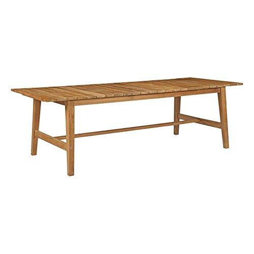 Modway EEI-2713-NAT Dorset Outdoor Patio Teak Dining Table, 98.5