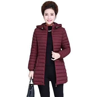 Amazon.com: BEESCLOVER Winter Women Hooded Jacket Warm