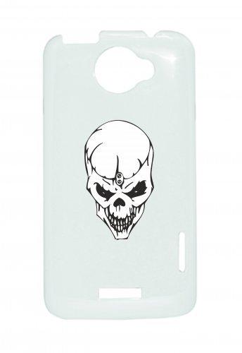"""Smartphone Case Apple IPhone 7+ Plus """"Totenschädel von oben mit Öffnungslasche Skelett Rocker Motorradclub Gothic Biker Skull Emo Old School"""" Spass- Kult- Motiv Geschenkidee Ostern Weihnachten"""
