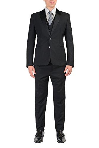 Dolce & Gabbana Wool Silk Black Tuxedo Style Three Piece Men's Suit US 40 IT 50; (& Tuxedo Dolce Gabbana)