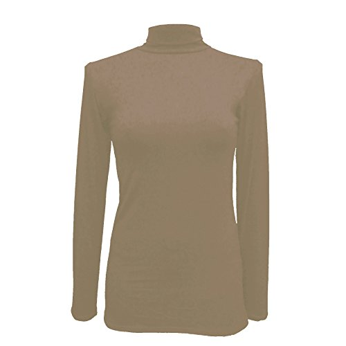 Body 2 Body - Camiseta de manga larga - para mujer Moca