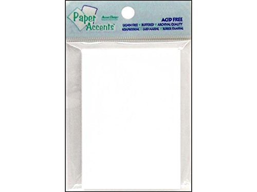Accent Design Paper Accents ADP2535-50.128 AD Paper White Trading Cards