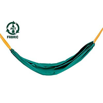 Hape Pocket Swing| Green Portable Hammock for Kids, Outdoor Children'S Swinging Chair, Easy Attach Mechanism for Ages 5+, 220 Lb Weight Capacity: Toys & Games