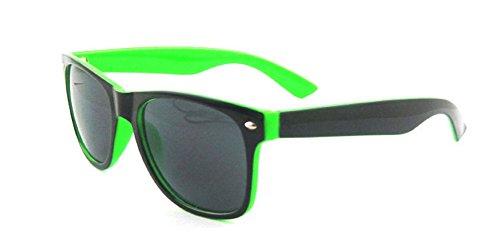 ® Lunettes Black Wayfarer classique soleil Wf09 Shop de UV400 ASVP Green wYx8FRq5q