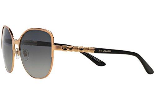 NEW PINK GOLD PLATED BVLGARI SQUARE WOMEN POLARIZED BV6078KB 100%UV MADE IN - Bvlgari Polarized Sunglasses