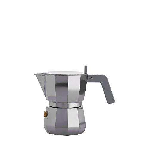 Alessi Coffee - Alessi Espresso Coffee Maker in Aluminium Casting. Handle and knob in PA, Grey. 1 Cup.