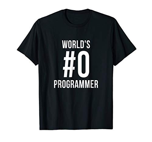 (World's #0 Programmer T-shirt Software Developers Code Tee)