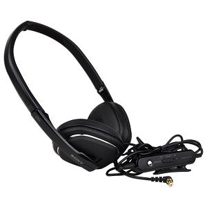 Sony MDR-NC40 Noise Canceling Foldable Stereo Headphones w/3.5mm Jack - Carrying Case & Airplane Adapter Included!