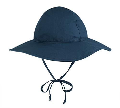 - BELLEBEAUTIE Baby Floppy Wide Brim Sun Hat Kids Breathable Cotton UPF 50+ Sun Protect Hat(10 Colors) Navy