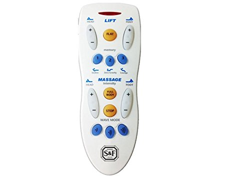 Stearns and Foster Reflexion 7 Replacement Remote for Adjustable Bed