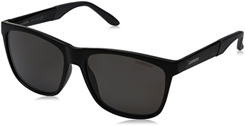Carrera Men's Ca8022s Polarized Wayfarer Sunglasses, Matte Black/Gray Polarized, 56 - Polarized Sunglasses Carrera