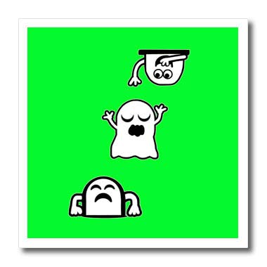 3dRose BlakCircleGirl - Halloween - Peek-A-Boos - Little ghosties Having Some Fun. - 6x6 Iron on Heat Transfer for White Material (ht_306704_2) -