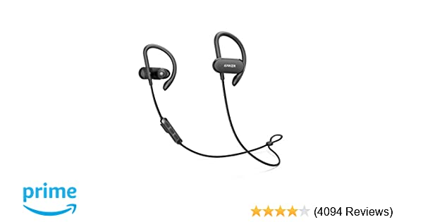 [Upgraded] Anker Soundbuds Curve Wireless Headphones, 18H Battery, IPX7  Waterproof Bluetooth Headphones, Bluetooth 5 0, Built in Mic and Carry  Pouch,