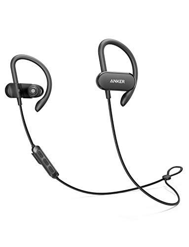 [Upgraded] Anker SoundBuds Curve Wireless Headphones, Bluetooth 5.0 Sports Earphones, 18-Hour Battery, Workout Headset with IPX7 Waterproof, Built-in Mic, and Carry Pouch