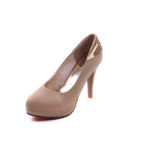 Gloednieuwe Mode Strass Vrouwen Platform Pomp Hoge Hakken Schoenen Abrikoos