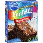Pillsbury Family Size Funfetti Chocolate Fudge Brownie Mix 19.40OZ (Pack of 24)