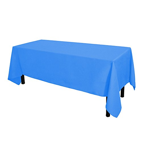 GlaiEleh Rectangle Tablecloth - 60 x 102 Inch - Baby Blue Rectangular Table Cloth for 6 Foot Table in Washable Polyester - Great for Buffet Table, Parties, Holiday Dinner, Wedding & More -