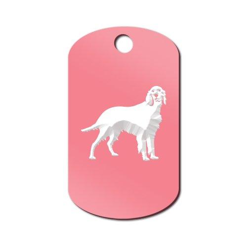 Irish Setter Engraved Keychain / GI Tag Mister Petlife red Pink (Setter Keychain)
