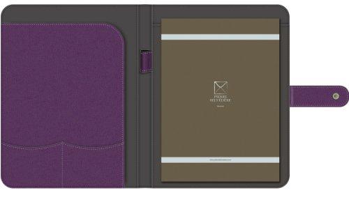 Pierre Belvedere A4/Letter Size Snap Portfolio, Refillable, Plum (371010) Photo #2