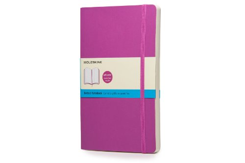 """Moleskine Classic Notebook, Soft Cover, Large (5"""" x 8.25"""") Dotted, Orchid Purple"""
