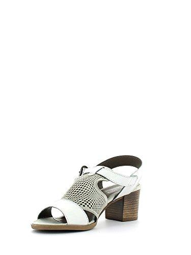 Cafe'XL407 Sandale talon Femme noir - - Off White, EU