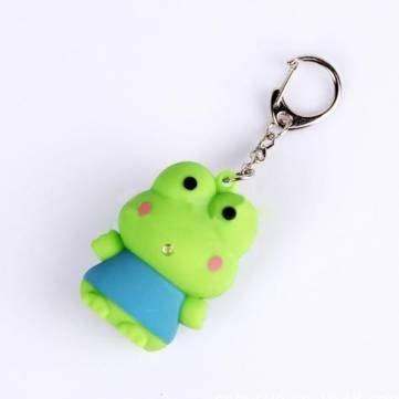 Kyz Kuv BYSUN son LED porte-cl/és Motif grenouille Vert clair
