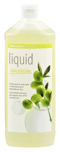 SODASAN LIQUID sensitive Bio Seife 1 Liter - ökologisch und umweltfreundlich (Flüssigseife bio)