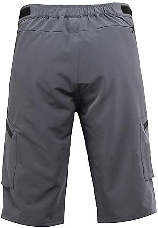21g Cycling Shorts for Men Quick Dry Breathable Loose Pockets with Zip for MTB Running Fitness Outdoor Sports