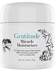Gratitude Miracle Moisturizer Face Cream, Natural Facial Cream, Day, Night, Anti-aging, Anti-wrinkle, Vitamin C, Antioxidants, Hyaluronic, Essential Oils, Eye Cream, Eye Puffiness, Dark Circles, 2oz