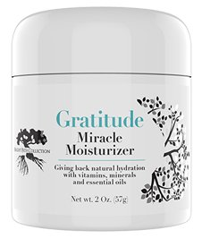 Gratitude Miracle Moisturizer Face Cream, Natural Facial Cream, Day, Night, Anti-aging, Anti-wrinkle, Vitamin C, Antioxidants, Hyaluronic, Essential Oils, Eye Cream, Eye Puffiness, Dark Circles, 2oz Review