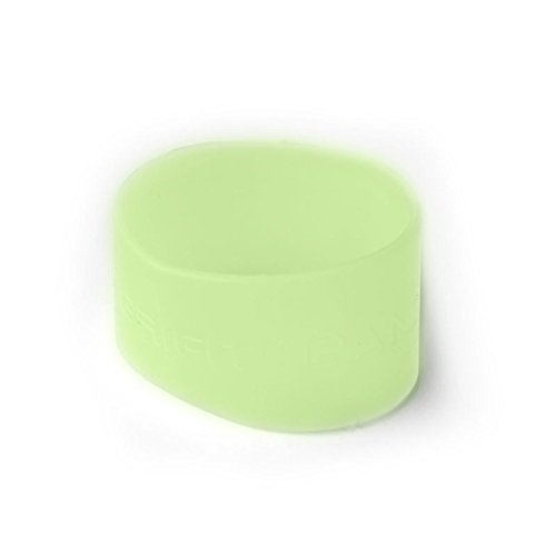 Grifiti Band Pocket Wallet Super Slim Profile Colorful Silicone Improved Broccoli Band for Cards, License, Cash (Horizontal, Translucent Glow)