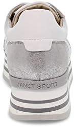 Janet Luxury Fashion Sport Femme JSPO45781 Argent Cuir Baskets | Printemps-été 20