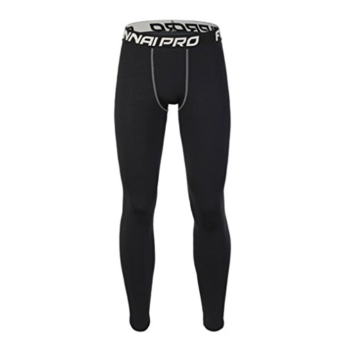 Active Run Straight Pant (DRACLE Fitness Pants, Fashion Elasticity Leggings Sports Gym Running/Yoga/Athletic for Men's (M, Black A))