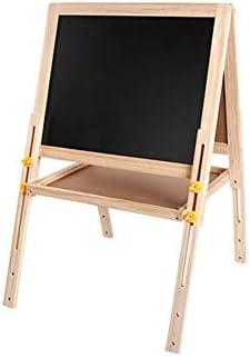 磁気アクセサリーチョークとスポンジで子供の木製イーゼル両面高さ調節描画黒板 T-20-4-1
