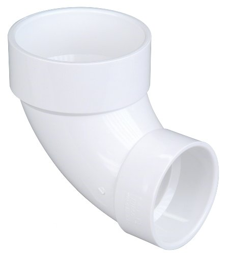 NIBCO 4807-CL Series PVC DWV Pipe Fitting, 90 Degree Elbow, 4