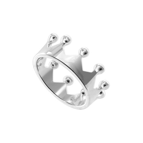 Sterling Silver Crown Ring - 6