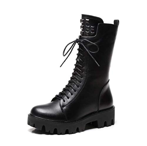 Cotton Stick 2018 Winter Black Women's New Martin Lace For Zipper With Side Thick Shoes Shiney Boots Warm And Autumn pYqFYOw