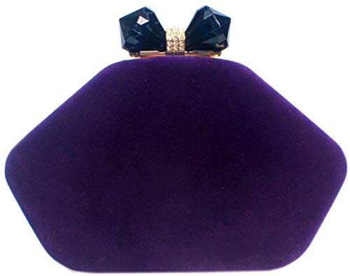 Wedding Evening Lips Women Handbags Clutches Bettyhome Purse Purple Bag Velvet Rhinestone Party Bxgt8wq