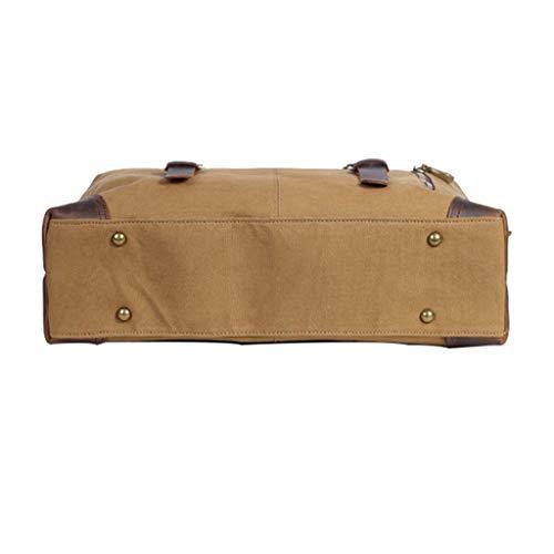 Tote Inches Canvas khaki Satchels For Bagwork Crossbody Men's Handle 14 Bag Bags Shoulder Top day Messenger Handbag Ppge Laptop qTXPH1nw