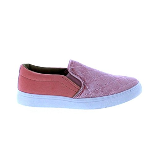 Velvet Quilted Blush 6 Maker's On Women's Sneakers Fashion Gaby Slip 86zx6nAq