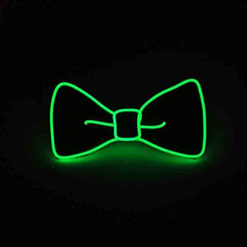 Bow Tie Light - Suncentech Luminous Bow Tie Adjustable Light Up Bow Tie, Novelty Party Dress Decor (Green)