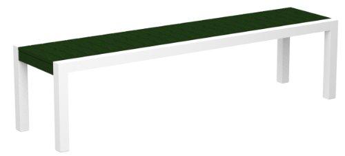 POLYWOOD 3800-13GR MOD Bench, Satin White/Green price