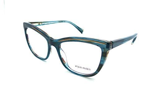 48588d7aed Alain Mikli Rx Eyeglasses Frames A03080 003 53-18-140 Petrol Dot/Brown
