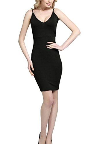 Pencil Party Cut Black Sexy Mini Sling Tight Dress Out Women Coolred Back UEq87