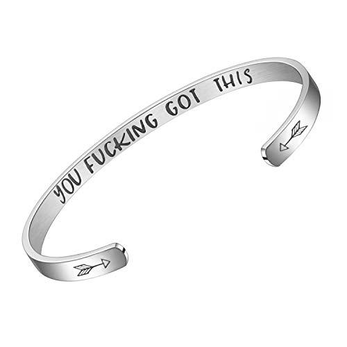 Personalized Bracelets for Women Inspirational Cuff Bangle