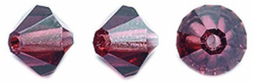 Light Czech Crystal (Preciosa 72-Piece Czech Crystal Bicone Beads Set, 6 by 6mm, Light Burgundy)